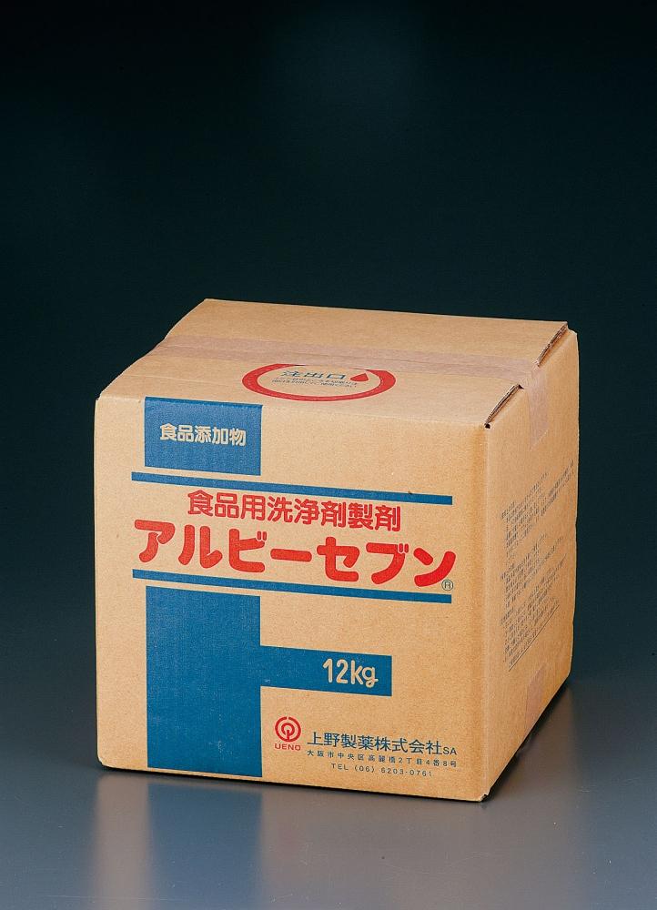 食品添加物食品用洗剤アルビーセブン 12kg  6-1177-1201 5-1076-0301[10P03Dec16]
