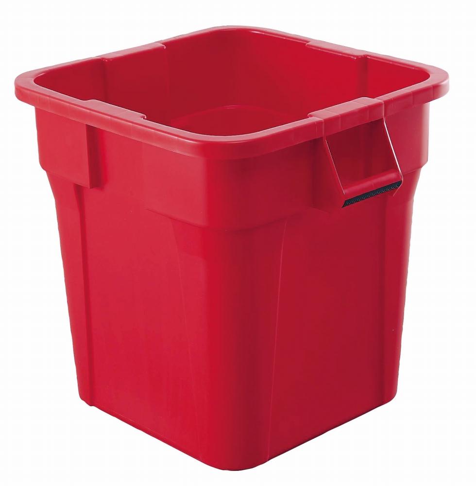 トラスト スクエアコンテナ 1231 レッド 【コンテナ 角型 収納 廃棄物 ゴミ箱 容器 厨房用品 新品 販売 通販】 [7-1318-0103 6-1259-0803 ]