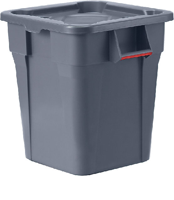 トラスト スクエアコンテナ 1233 グレー 【コンテナ 角型 収納 廃棄物 ゴミ箱 容器 厨房用品 新品 販売 通販】 [7-1318-0104 6-1259-0804 ]