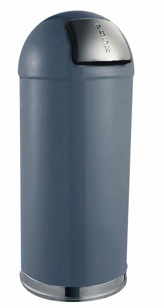トラスト ラウンドトップ ダストボックス 2353 45L グレー  6-1260-1103 5-1154-1103【ゴミ箱 ダストボックス スチール製 押しふた付き カラーバリエーション 店舗用品 厨房用品 新品 販売 通販】[10P03Dec16]