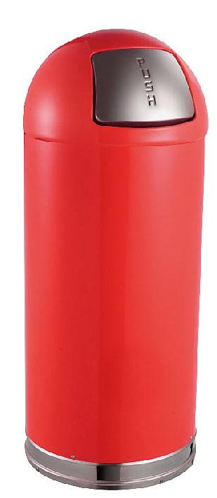 トラスト ラウンドトップ ダストボックス 2353 45L レッド  6-1260-1104 5-1154-1104【ゴミ箱 ダストボックス スチール製 押しふた付き カラーバリエーション 店舗用品 厨房用品 新品 販売 通販】[10P03Dec16]