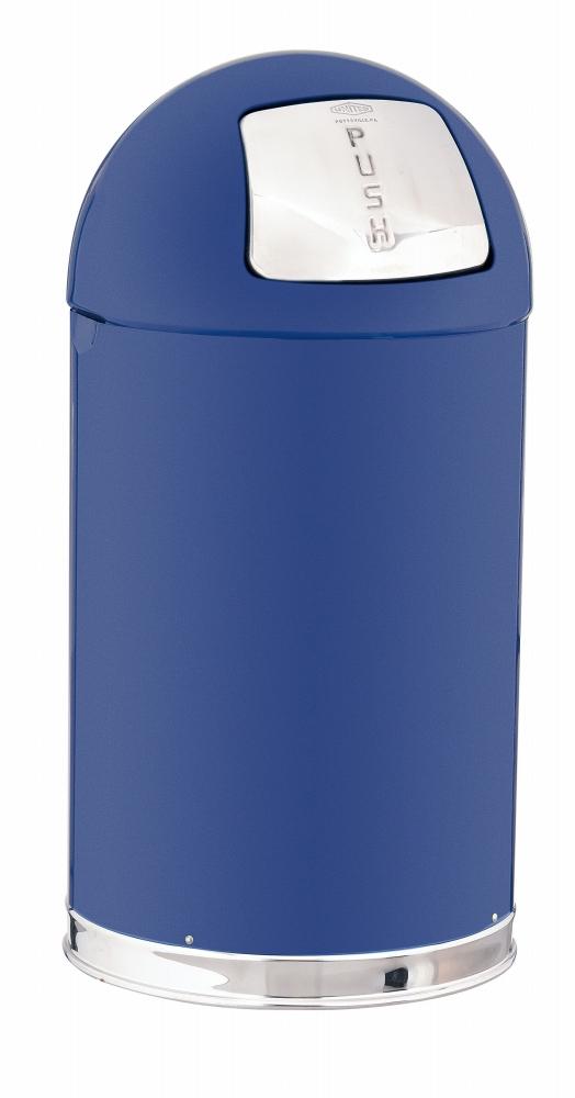 トラスト ラウンドトップ ダストボックス 2363 56L ブルー  6-1260-1105 5-1154-1105【ゴミ箱 ダストボックス スチール製 押しふた付き カラーバリエーション 店舗用品 厨房用品 新品 販売 通販】[10P03Dec16]