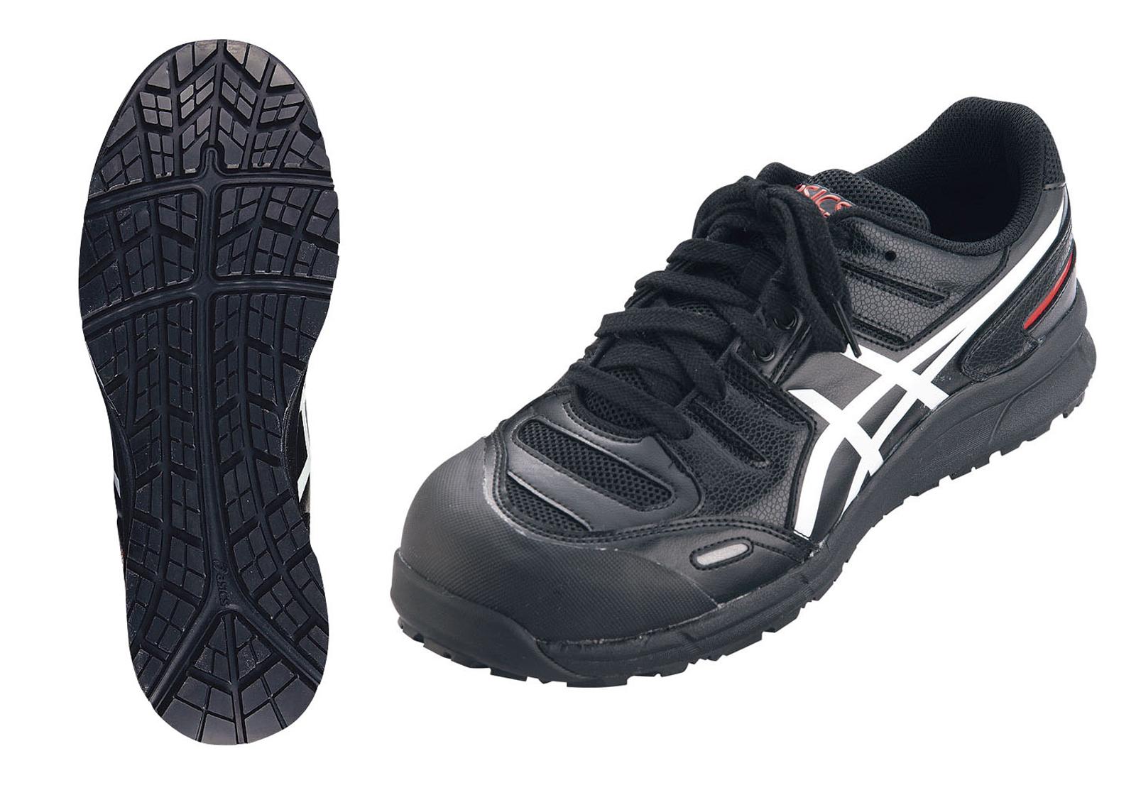 アシックス ウィンジョブ安全靴CP103 BK×ホワイト 24.5cm 6-1309-0802【厨房用品 長靴 白衣 靴 サンダル スリッパ 業務用 販売 通販】[10P03Dec16]
