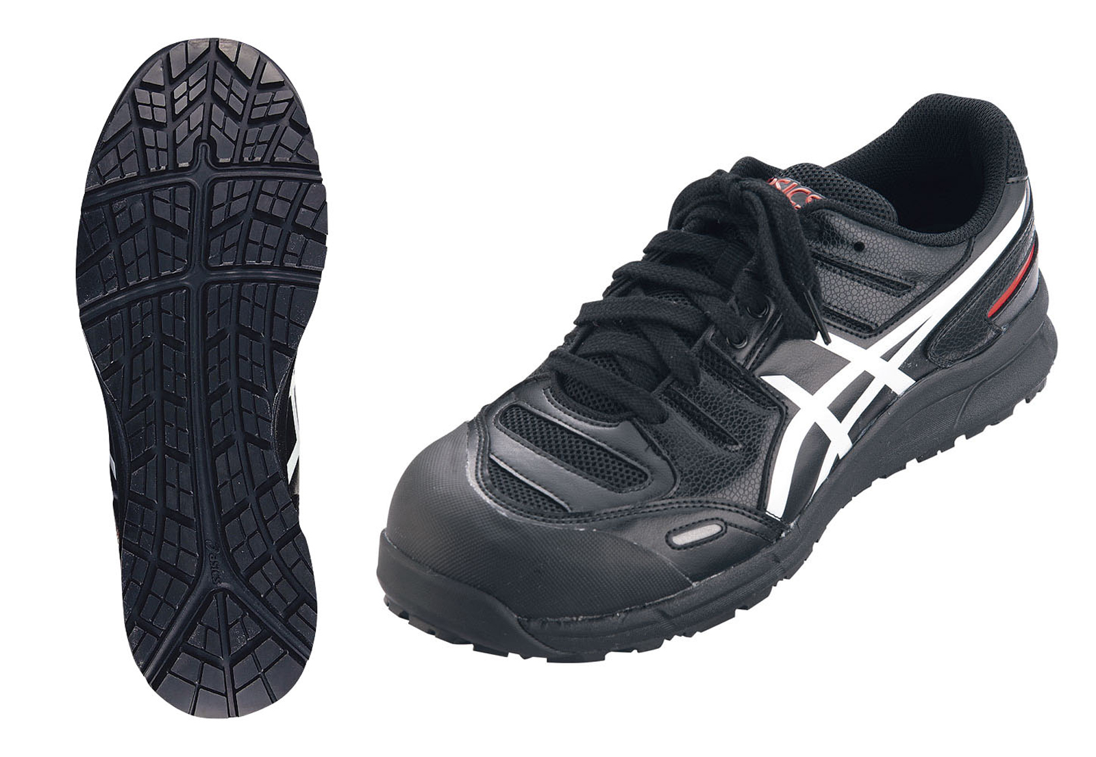 アシックス ウィンジョブ安全靴CP103 BK×ホワイト 27.5cm 6-1309-0808【厨房用品 長靴 白衣 靴 サンダル スリッパ 業務用 販売 通販】[10P03Dec16]
