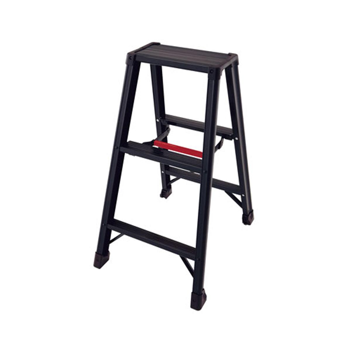 アルミ 軽量 専用脚立 脚軽BLACK RZB1.0-06 2尺 6-1245-0101【厨房用品 清掃用品 お掃除収納 脚立 業務用 販売 通販】[10P03Dec16]