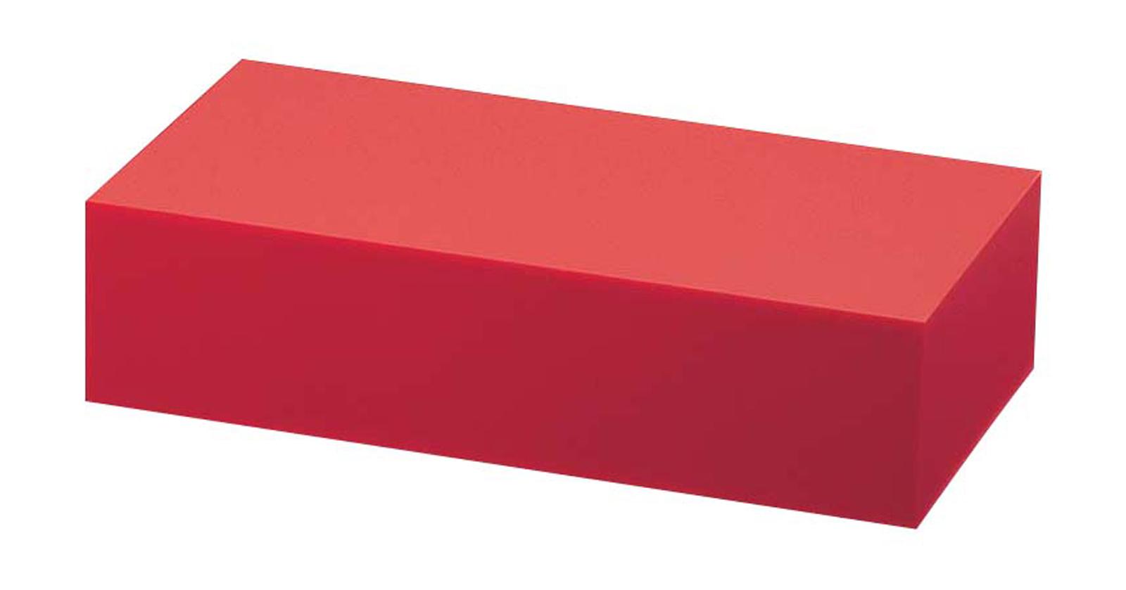 アクリル ディスプレイBOX 中 朱マット B30-6 【卓上用品 バンケットウェア 宴会備品 皿 飾台 卓上器物 業務用 販売 通販】 [7-1594-1101 6-1530-1101 ]