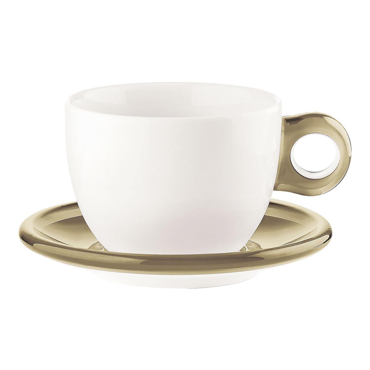 ゴッチェ ブレックファーストカップ2P 2775.0039 サンド 6-2147-0402【卓上用品 グラス 食器 洋食器 コーヒー ティーカップ 業務用 販売 通販】[10P03Dec16]