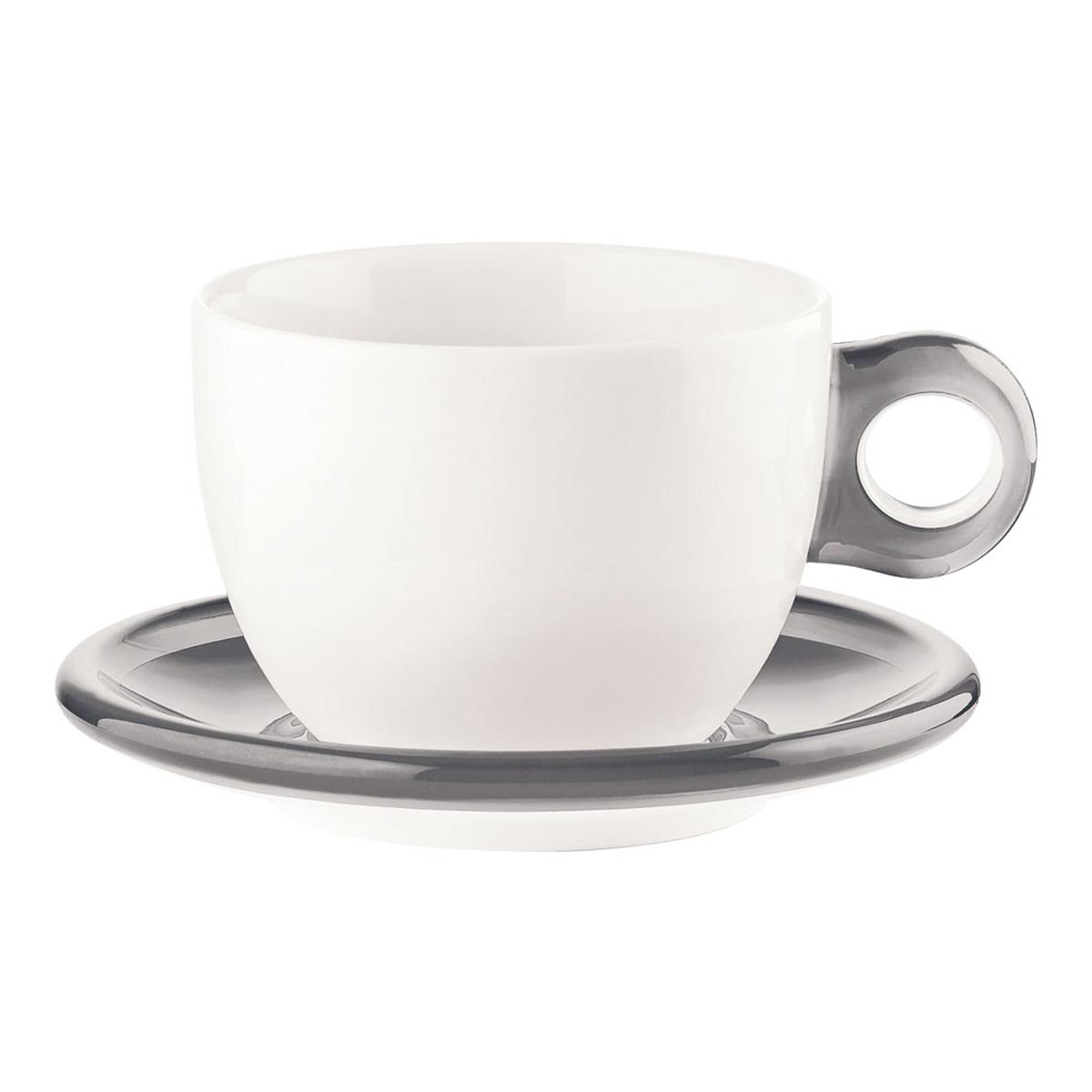 ゴッチェ ブレックファーストカップ2P 2775.0092 グレー 6-2147-0404【卓上用品 グラス 食器 洋食器 コーヒー ティーカップ 業務用 販売 通販】[10P03Dec16]