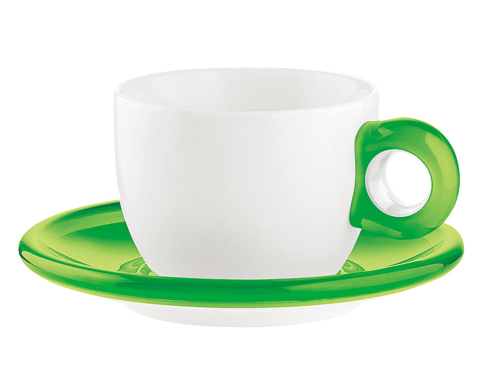 ティー/コーヒーカップ 2客セット 2774.0044 グリーン 6-2148-0102【卓上用品 グラス 食器 洋食器 コーヒー ティーカップ 業務用 販売 通販】[10P03Dec16]