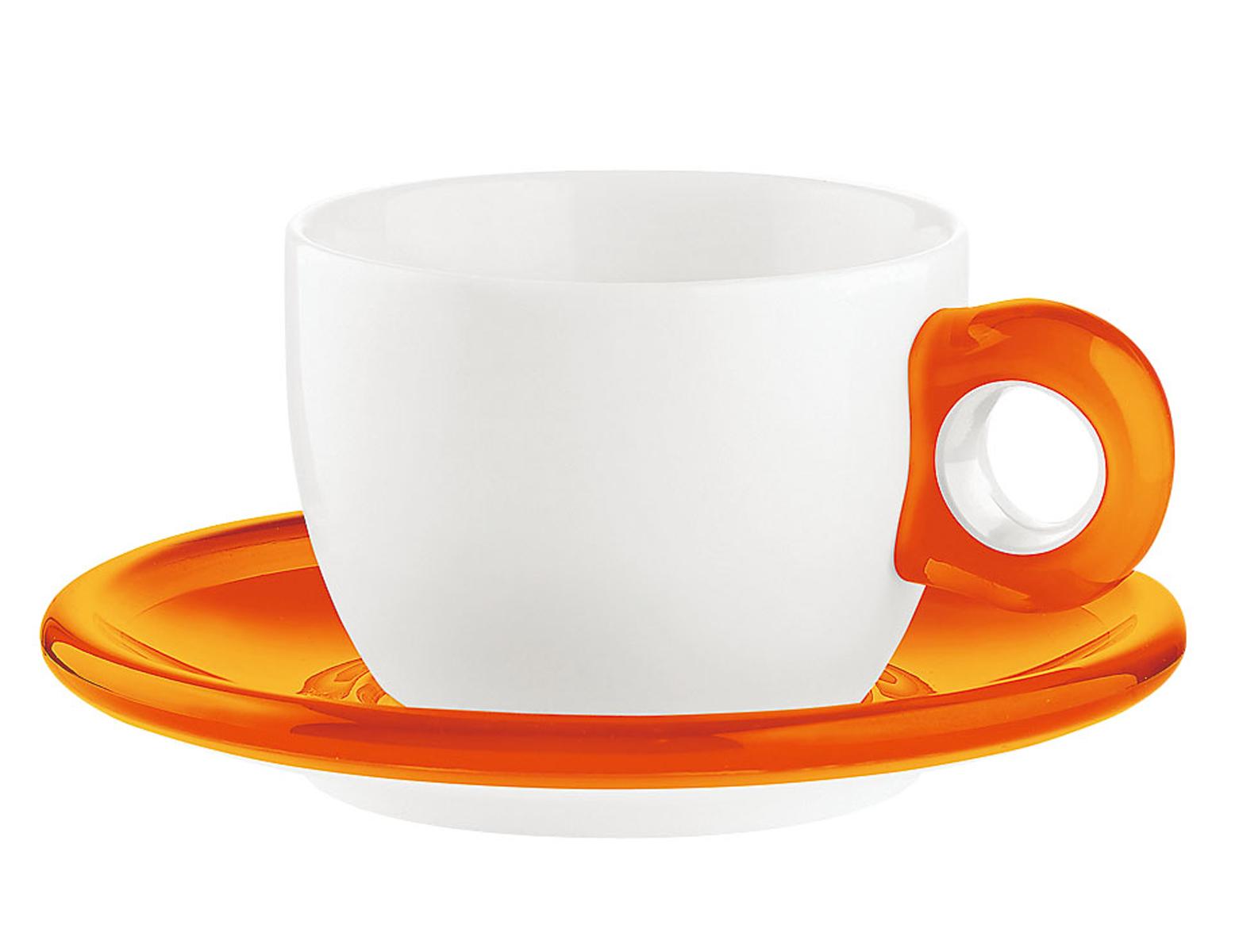 ティー/コーヒーカップ 2客セット 2774.0045 オレンジ 6-2148-0103【卓上用品 グラス 食器 洋食器 コーヒー ティーカップ 業務用 販売 通販】[10P03Dec16]