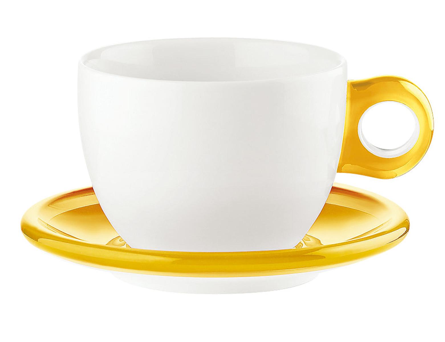 ラージコーヒーカップ 2客セット 2775.0088 イエロー 【卓上用品 グラス 食器 洋食器 コーヒー ティーカップ 業務用 販売 通販】 [7-2264-0205 6-2148-0205 ]