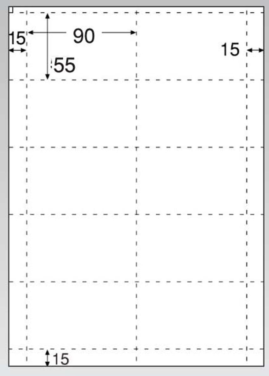 名刺・カード 10面(光沢&マット) CJ602 100シート入 6-2386-1302【インテリア 店舗備品 レジ周り 事務用品 業務用 販売 通販】[10P03Dec16]