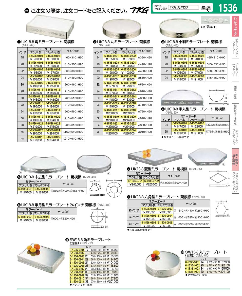 UK18−8六角型ミラープレート 40インチ (アクリル) 6-1536-0805 5-1384-0805[10P03Dec16]