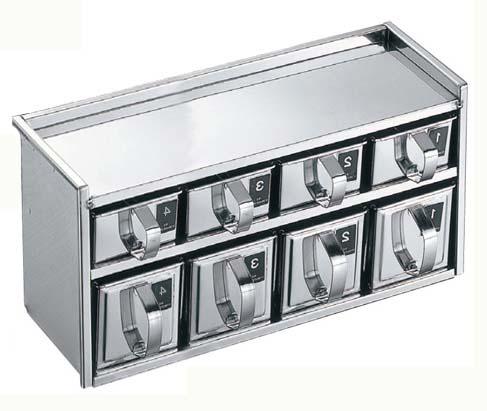 EBM 18-8 引出式 ヤクミ入 2段8ヶ入 0250-04 【厨房用品 薬味入・シールウェア容器 業務用 特価 格安 新品 販売 通販】[10P03Dec16]