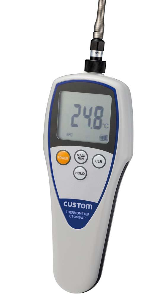 カスタム 防水デジタル温度計 CT-3100WP(標準センサー付) 【厨房用品 はかり タイマー 温湿度計 業務用 特価 格安 新品 販売 通販】 [0628-10]