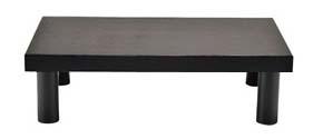 木製 システム ディスプレイスタンド ロータイプ ダークブラウン 【卓上用品 ビュッフェ関連 業務用 特価 格安 新品 販売 通販】 [1002-13]