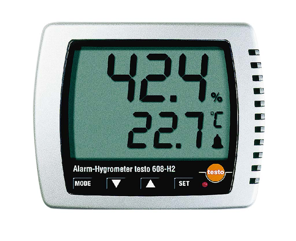 卓上式温湿度計(アラーム付)Testo608-H2 【厨房用品 はかり タイマー 温湿度計 業務用 特価 格安 新品 販売 通販】 [0639-01]