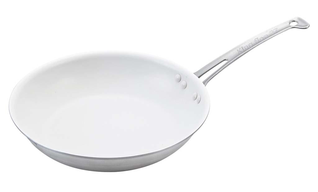 キングフロン スノーホワイトフライパン 深型 24cm 0038-06 【厨房用品 業務用鍋類・フライパン 業務用 特価 格安 新品 販売 通販】[10P03Dec16]