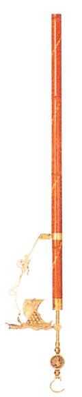 青銅自在釣 佐渡の名竹 宝船(砲金鋳特) 【ホール備品 テーブル 椅子 関連 業務用 特価 格安 新品 販売 通販】 [1828-12]