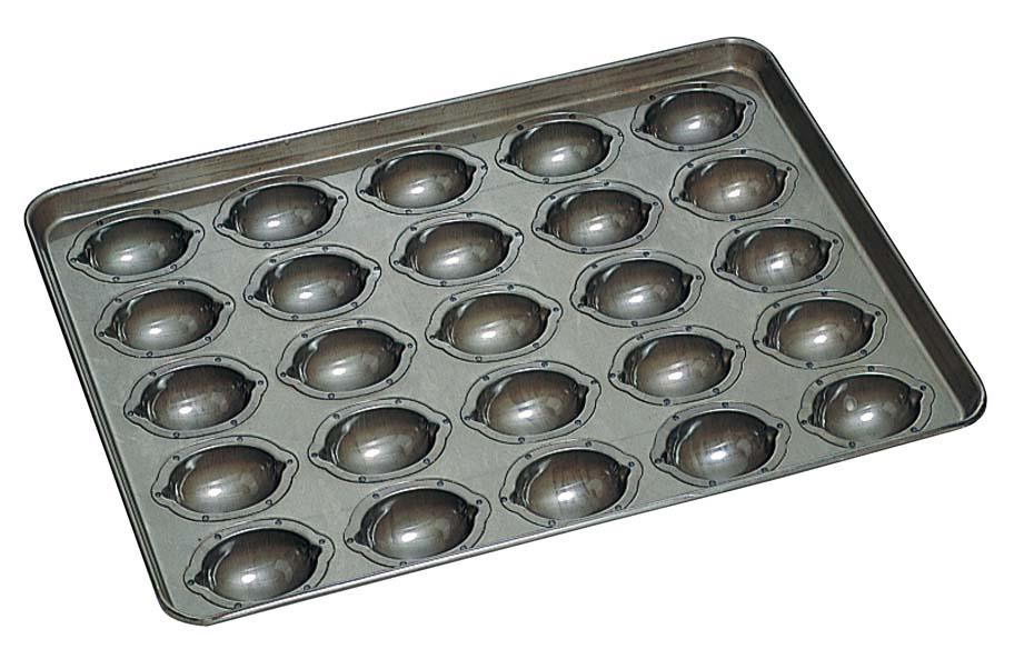 通販】 格安 特価 レモンケーキ型 新品 モールド 天板(25ヶ取) シリコン加工 [0814-01] 業務用 ケーキ焼型 販売 【厨房用品