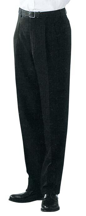 スラックス DL2969-9 男性用ツータック 黒 ウエスト85cm 【厨房用品 帽子 エプロン ユニフォーム 業務用 特価 格安 新品 販売 通販】 [2058-10]