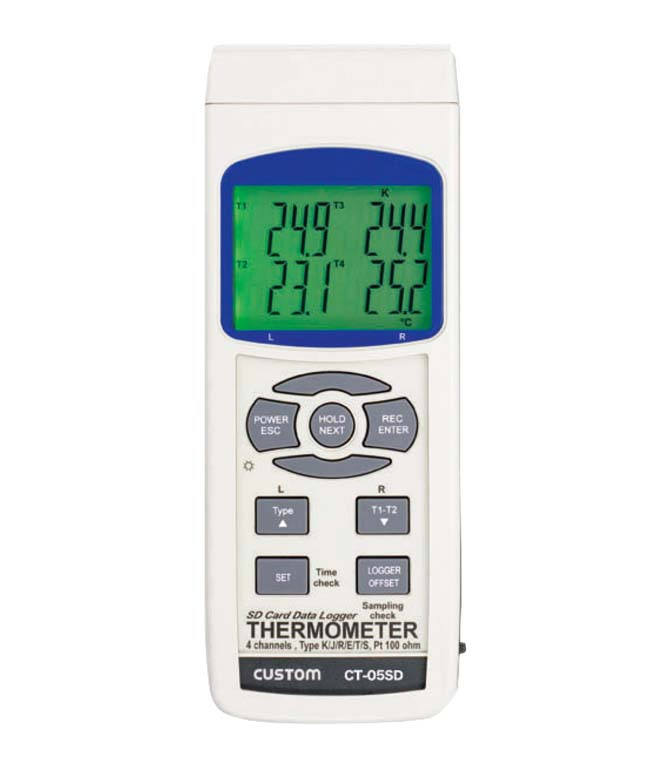 カスタム 4チャンネル デジタル温度計 CT-05SD 【厨房用品 はかり タイマー 温湿度計 業務用 特価 格安 新品 販売 通販】 [0632-06]