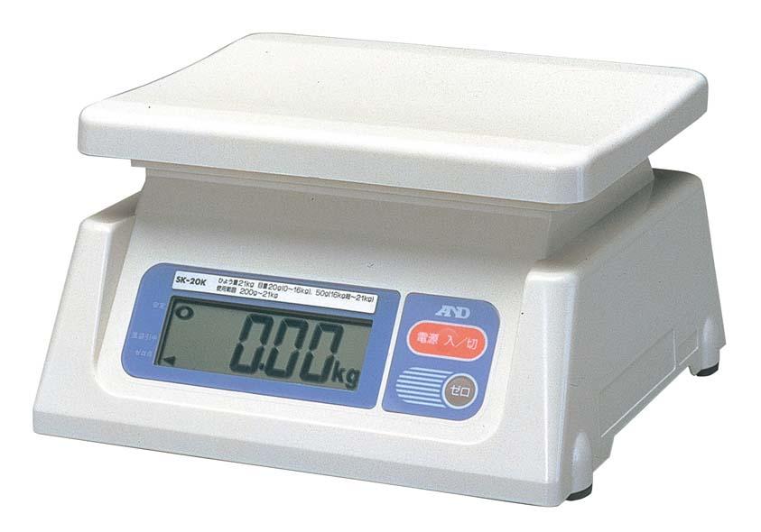 A&D デジタルはかり SK-20Ki 検定済品 【厨房用品 はかり タイマー 温湿度計 業務用 特価 格安 新品 販売 通販】 [0617-10]