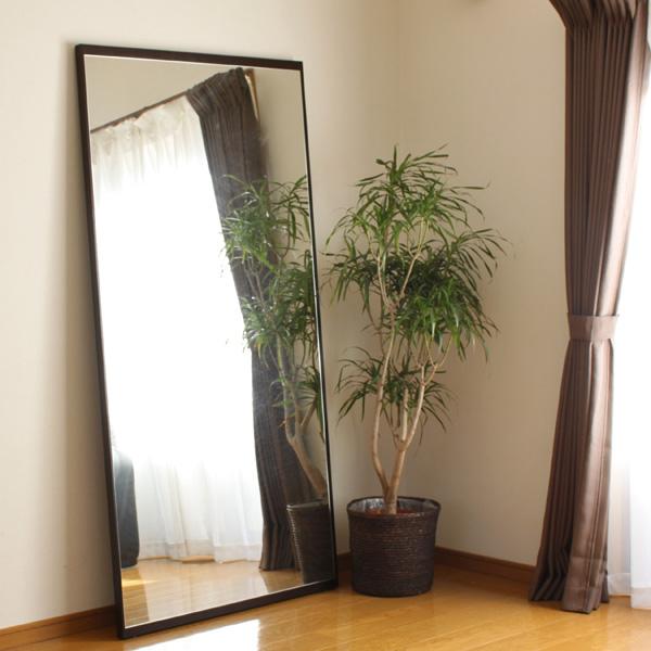 ウッドフレーム 大型ミラー(姿見ミラー)【モダンアジアン家具/リゾート家具】