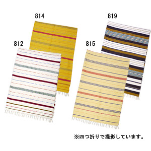 【アジアン雑貨/エスニック雑貨】コットンラグマットB(210×150cm・6タイプ)