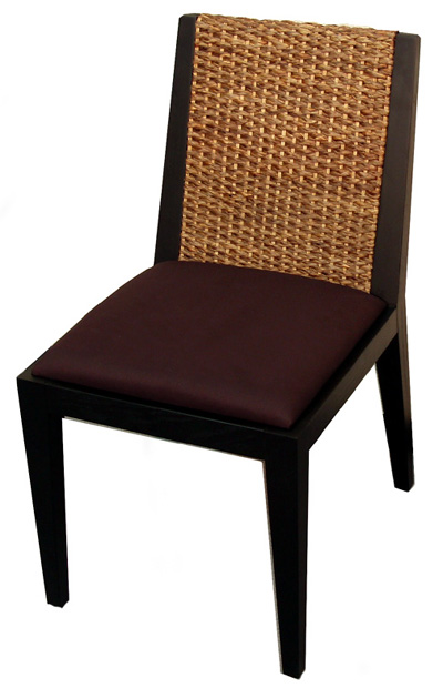 Water Hyacinth Dining Chair Contemporary Furniture 2 Leg Set And Custom Made