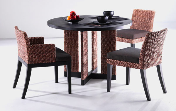 Water Hyacinth Dining Chair Contemporary Furniture Custom Made