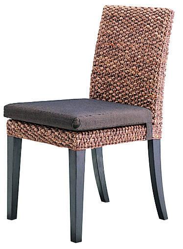 Water Hyacinth Dining Chair Modern Asian 2 Leg Set And Custom Made