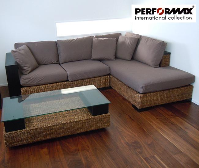 Nagi: Water Hyacinth Sofa SET/2 P Piece Modular Sofa & Bed