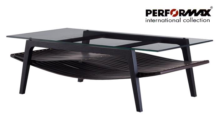 【高品質バンブーファニチャー/PERFORMAX正規品】バンブー ソファテーブル(Lサイズ・W140)/ローテーブル/コーヒーテーブル/天板強化ガラス/モダンアジアン家具(受注生産品)