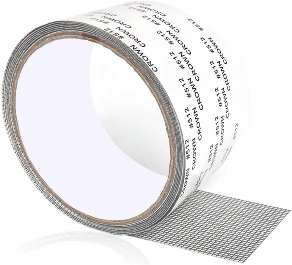 簡単に網戸の破れがが直せる 網戸補修テープ 網戸パッチ 5x200cm 補修シート サイズ自由にカット ガラス繊維 お買い得 メッシュ お得クーポン発行中 粘着式 穴の開いた網戸 網戸の破れ修理