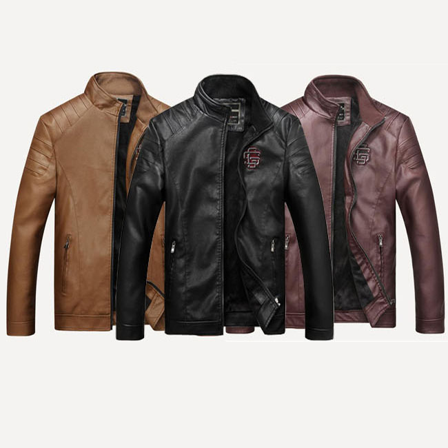 Outer Casual In Cheap Riders Jacket Leatherette Jacket Leather Jacket Motorcycle Motorcycleware Stand Up Collar Back Boa Back Raising Fall And Winter