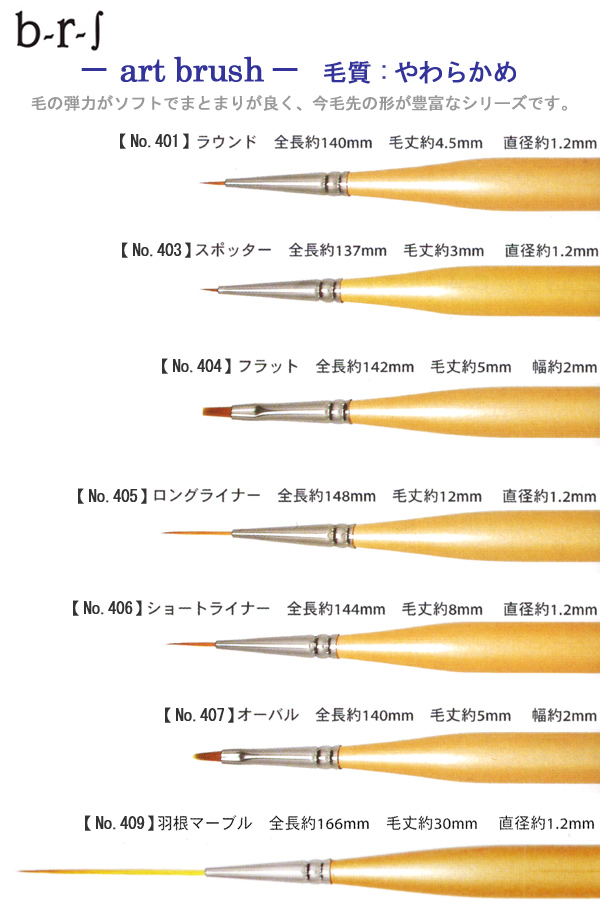 "b-r-s ( ブルーシュ ) artbrush short liner s No.406.""fs3gm"