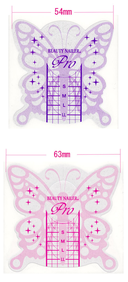 BEAUTY NAILER butterfly form (500 pieces case) fs3gm