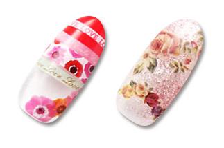 长沙钉临 (照片 Nailpro) 钉贴花朵