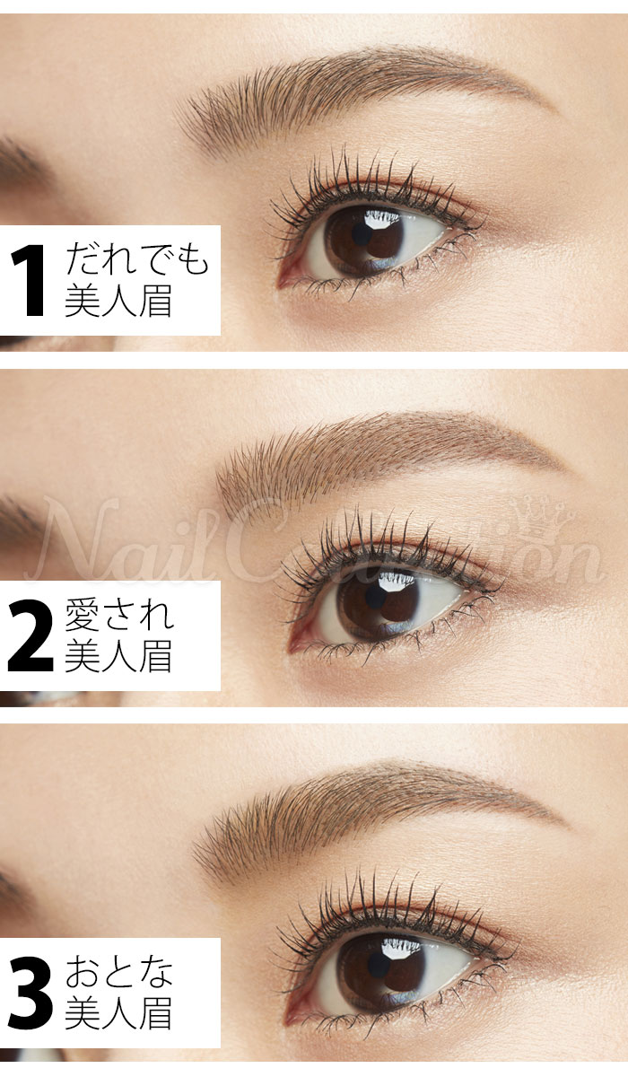 Nail collection eyebrow template shellfish mark rakuten global market the eyebrows have the source of the youthfulness i can keep attractiveness and activeness to continue forever by working as some middle of the forehead maxwellsz