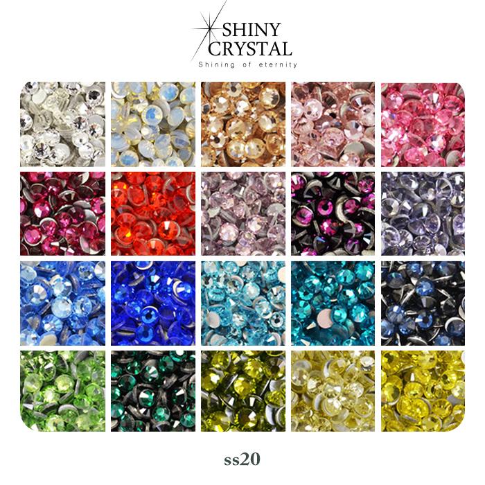 6e75494c7 Nail stone nail parts self-nail in rhinestone SHINY CRYSTAL [shiny crystal]  color article number 1-20 large ss20 irogel ラインストーンジェルネイルデコレジン ...