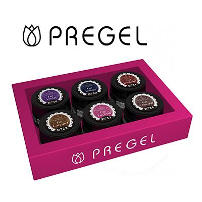 ジェルネイル カラージェル セット プリジェル PREGEL プリムドール ファーシリーズ 6色セット