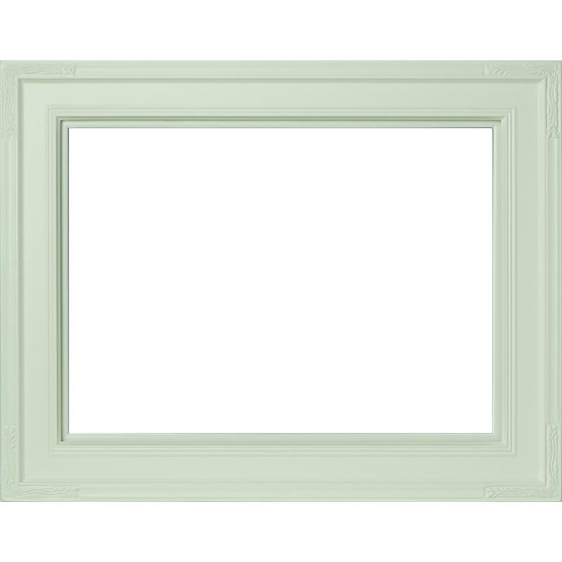 油絵用額縁 バネッサ/白 F10(530×455mm) 前面アクリル仕様