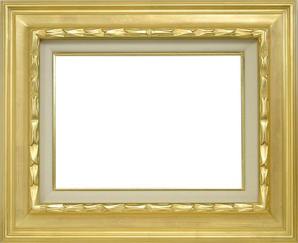 油絵用額縁 7811/ゴールド F4(333×242mm)☆前面アクリル仕様☆【絵画/壁掛け/インテリア/玄関/アートフレーム】