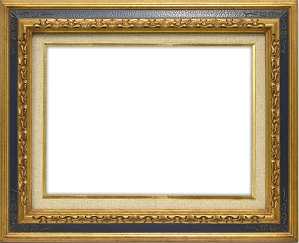 油絵用額縁 7861/金青 F10(530×455mm)☆前面アクリル仕様☆【絵画/壁掛け/インテリア/玄関/アートフレーム】