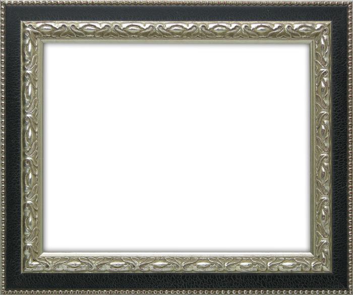 高級木製フレーム 5☆好評 人気 真ん中のレザー調のラインがお洒落 デッサン額縁 9371黒 銀 B4 364×257mm 壁掛け 玄関 インテリア 絵画 アートフレーム ☆前面ガラス仕様☆