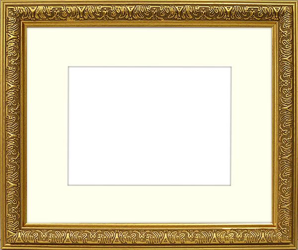 この見栄えでこの価格 半額 樹脂製だから出来る 驚きの価格 額縁 写真用額縁 594×420mm ゴールド 送料0円 A2 専用☆前面アクリル仕様☆マット付き シャイン
