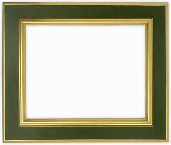 樹脂額縁には珍しい 縁幅約5cmのフレーム 額縁 押し花額縁 9583 Gグリーン 半切サイズ 付与 ガラス寸法542×421mm アートフレーム 絵画 SALENEW大人気! 壁掛け os-B インテリア 玄関