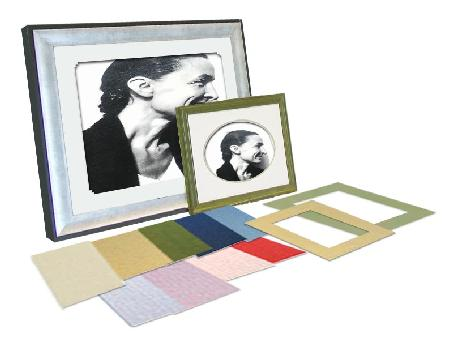 Color mat B4 (364*257mm) for the frame