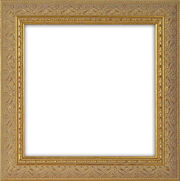 正方形額縁 420型/ゴールド 450角(450×450mm) ☆前面アクリル仕様☆ 【模様・色に仕様変更有り】【絵画/壁掛け/インテリア/玄関/正方形/記念品/アートフレーム】